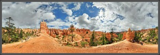 Panorama,360°,USA,Amerika,Landschaft,Utah,Bryce Canyon,Queens Garden,America,Panoramic,Michael Rucker