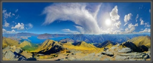 Panorama,360°,Mount Lemond,Quenstown,New Zealand,Neuseeland,Panoramic,Michael Rucker