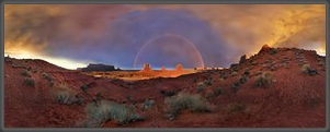 Panorama,360°,USA,Amerika,Landschaft,Monument Valley,Utah,Arizona,Sonnenuntergang,America,Panoramic,Michael Rucker
